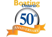 Boating Ontario 50th Anniversary Logo