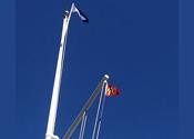 AYC Burgee SDYC Flagpole