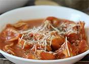 Tomato Pesto Tortellini Soup