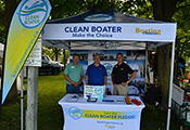 Clean Boater Booth at the Orillia Boat and Cottage Show