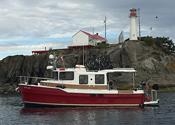 Ranger Tug 31S in front of Chrome Island, BC