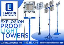 Les tours d'éclairage à l'épreuve des explosions de Larson Electronics