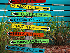 Sign Post of Destinations